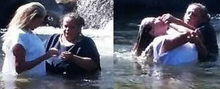 Após deixar o carnaval e se converter, Angela Bismarchi é batizada