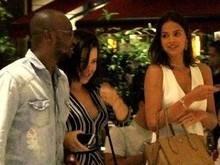 Sem Neymar, Marquezine janta com Fernanda Souza e Thiaguinho