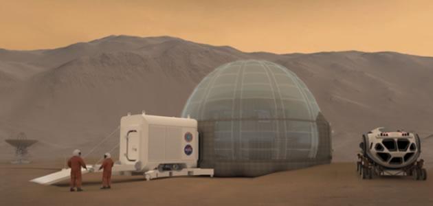 Gelo será matéria prima de casas em Marte