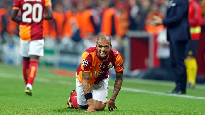 Felipe Melo quando ainda atuava pelo Galatasaray (Crédito: Reprodução)