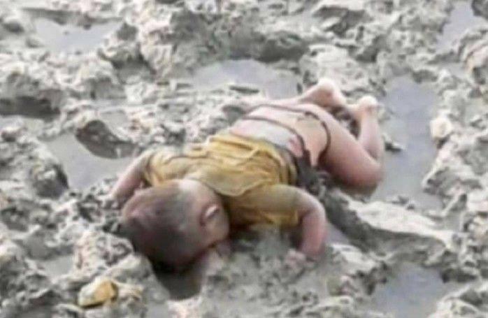 Bebê morto causou comoção (Crédito: Reprodução/Facebook/Ro Sadak)