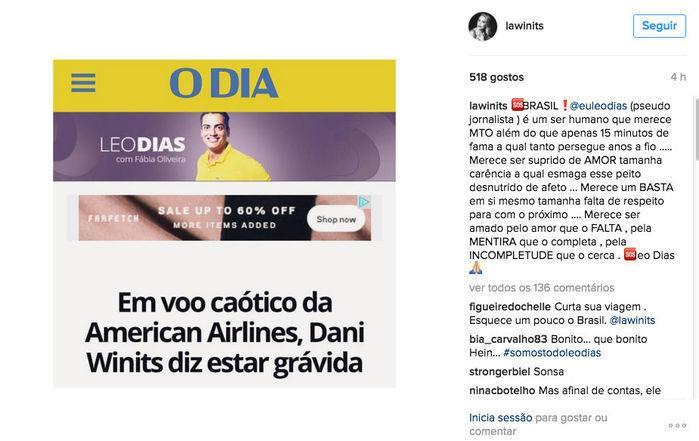 Léo Dias detona Danielle Winits e é ameaçado por marido de atriz