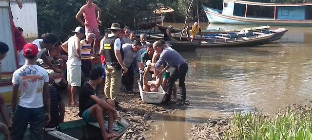 Corpo encontrado em Ilha Grande, no litoral do Piauí (Crédito: Carlsonpessoa)