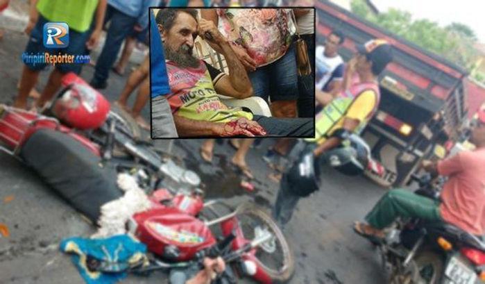 Acidente deixa mototaxista ferido