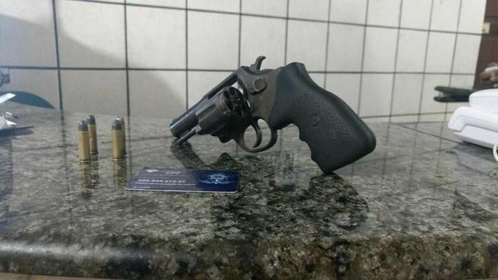 Arma apreendida (Crédito: Reprodução)