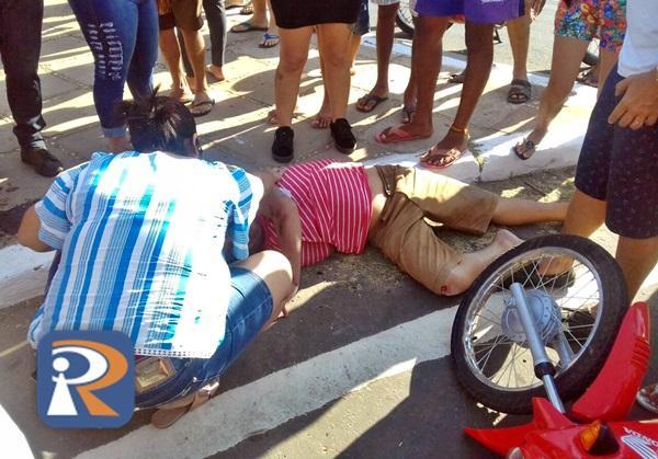 Acidente deixa motociclista ferido em Piripiri (Crédito: Reprodução)