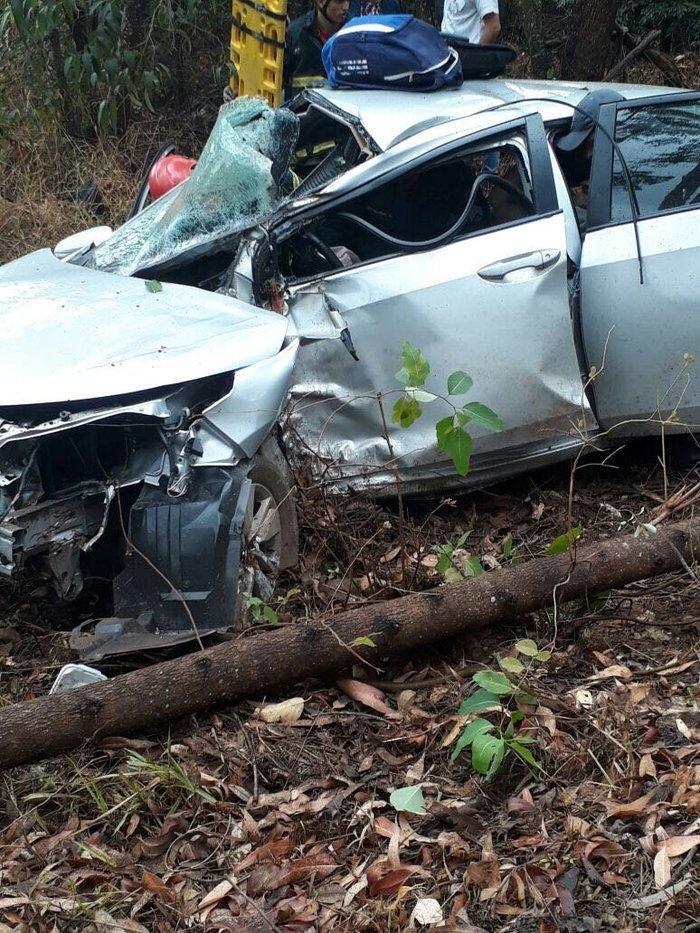 Deputado Federal fica ferido após capotar veículo na BR 262 (Crédito: Reprodução)