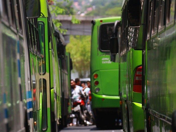 Paralisação de ônibus em Teresina