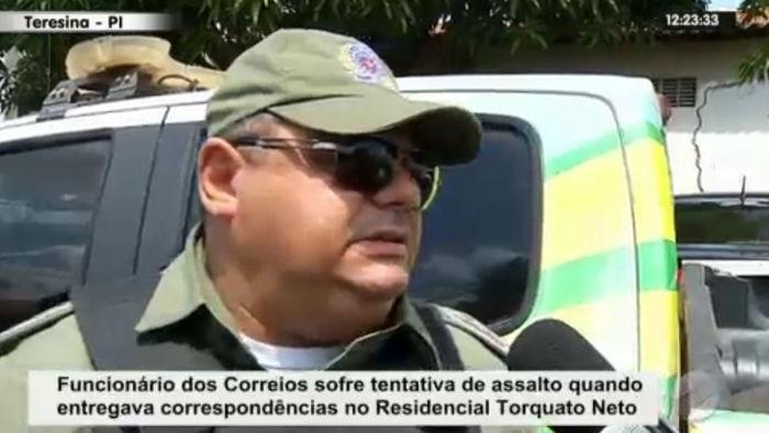 Capitão fala sobre carteiro baleado no Torquato Neto, em Teresina (Crédito: Rede Meio Norte)