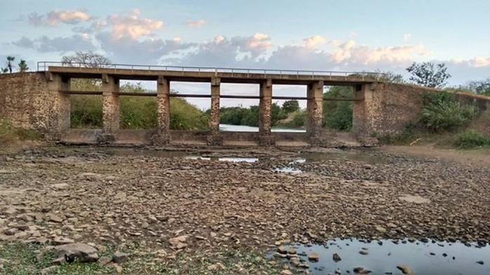 Seca no Rio Piracuruca  (Crédito: Reprodução)