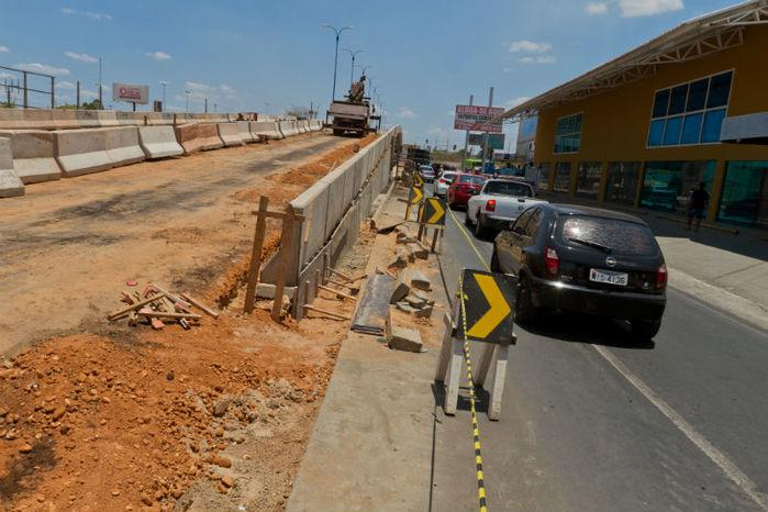 Obra vai interligar a região sul ao centro de Teresina.  (Crédito: Francisco Leal)