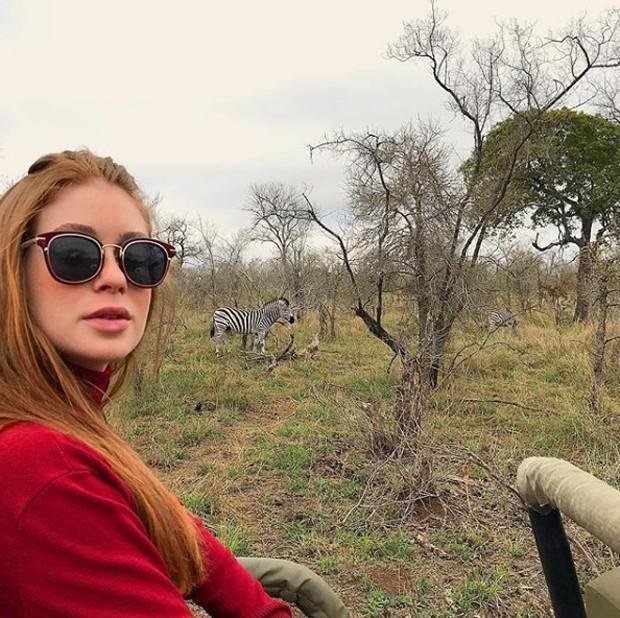 Marina Ruy Barbosa durante safari