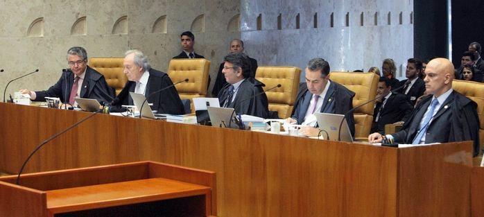 Plenário do STF durante leitura do voto de Fachin