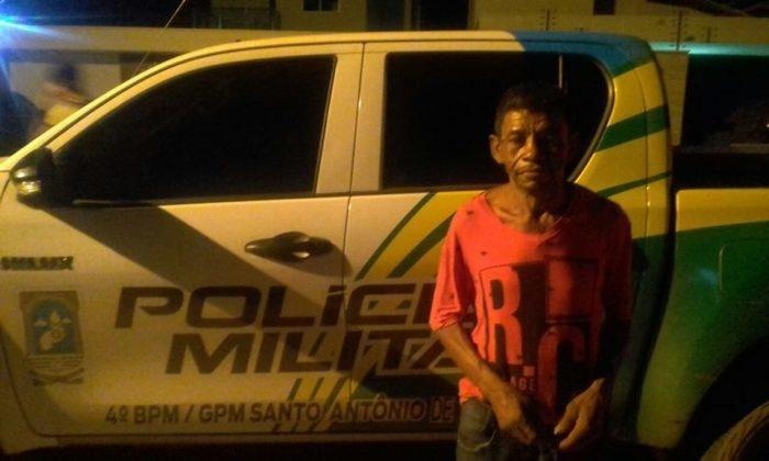 Homem foi preso em flagrante (Crédito: Polícia Militar)
