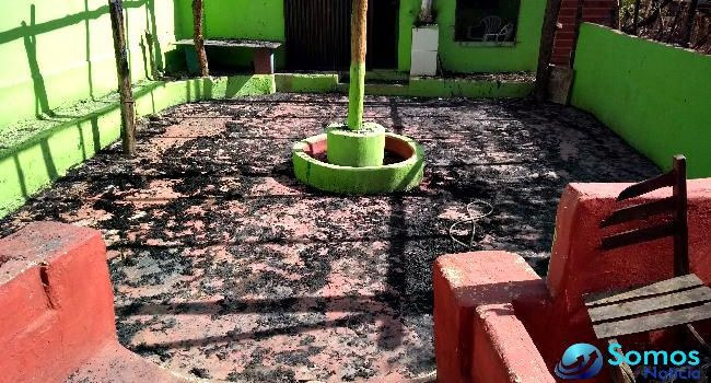 Incêndio destrói salão de umbanda em Amarante (Crédito: Portal Somos Notícia)