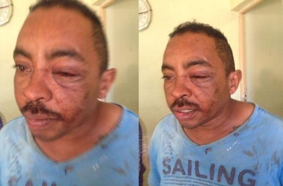 Mulher espanca ex-marido após ter botijão de gás furtado (Crédito: PM)