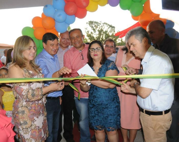 Wellington Dias, durante inauguração da Creche Zezita Barbosa  (Crédito: Francisco Gilásio)