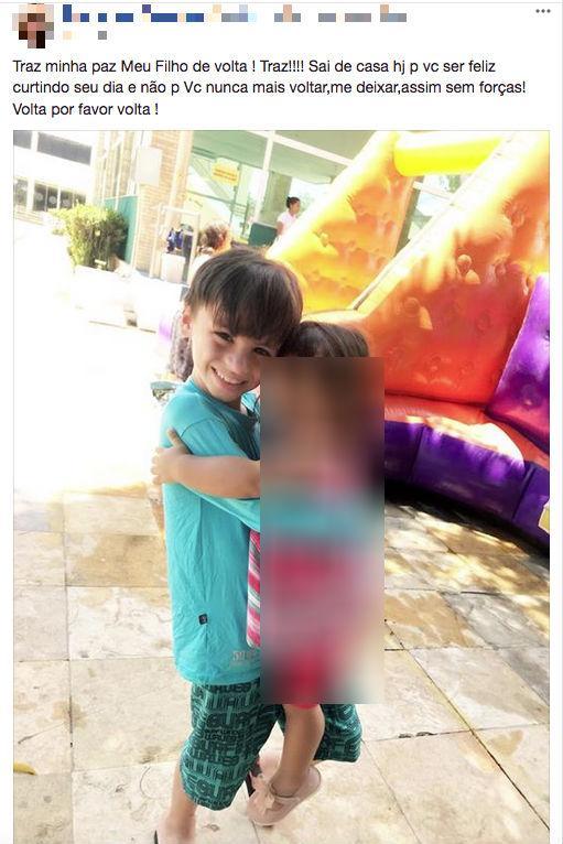Mãe lamenta morte do filho nas redes sociais (Crédito: Reprodução/Facebook)