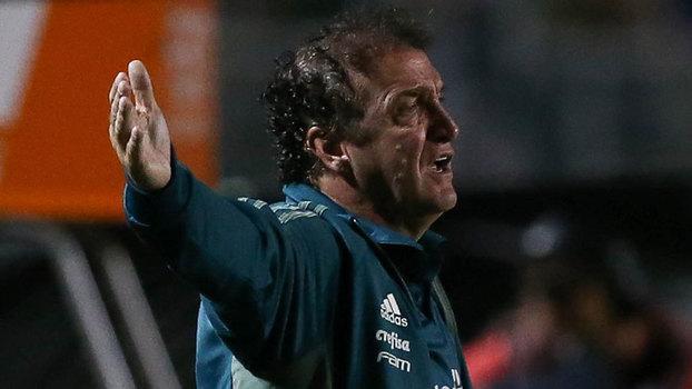 Técnico Cuca, do Palmeiras, durante a partida contra o Bahia no Pacaembu (Crédito: Palmeiras)
