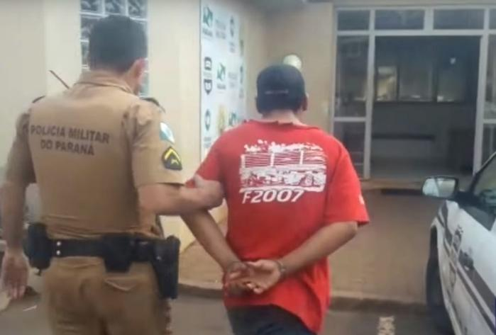 Homem foi preso em flagrante (Crédito: Umuarama News)