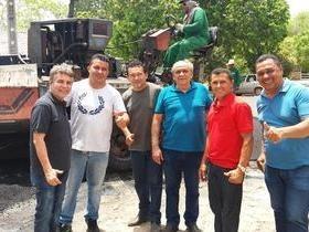 Iniciada às obras de asfaltamento em Monsenhor Gil