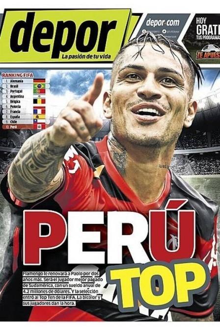 Capa do jornal peruano (Crédito: Reprodução)