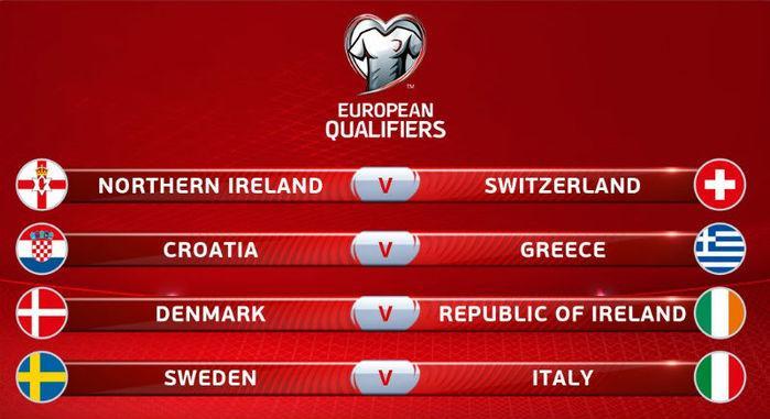 Itália e Suécia farão o confronto de maior destaque (Crédito: Reprodução)