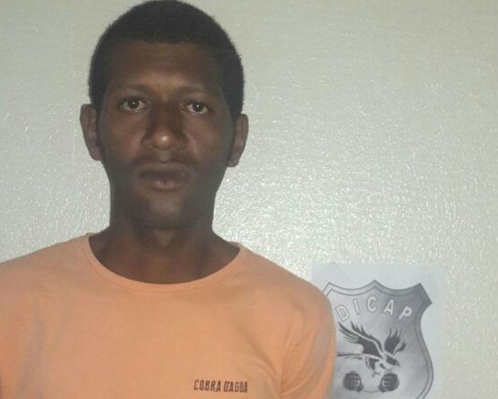 Natanael Gean, acusado de agredir e ameaçar os próprios tios idosos  (Crédito: Dicap/Polícia Civil)