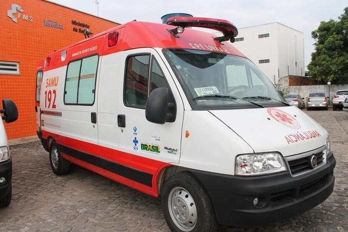 Ambulância do SAMU de Teresina (Crédito: Ascom)