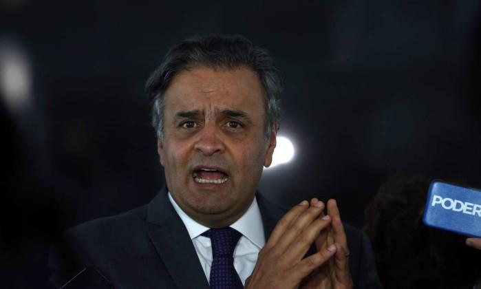 Senador Aécio Neves (Crédito: Agência O Globo 15/08/2017)