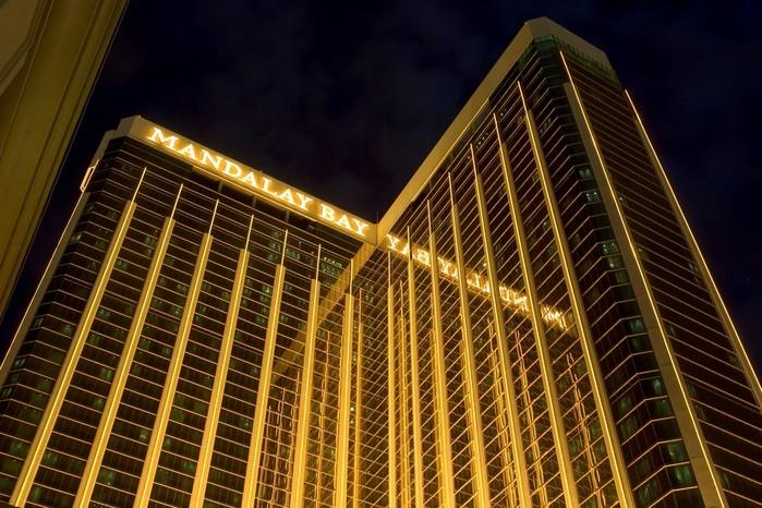 Hotel onde atirador efetuou os disparos (Crédito: David Becker/Getty Images/AFP)