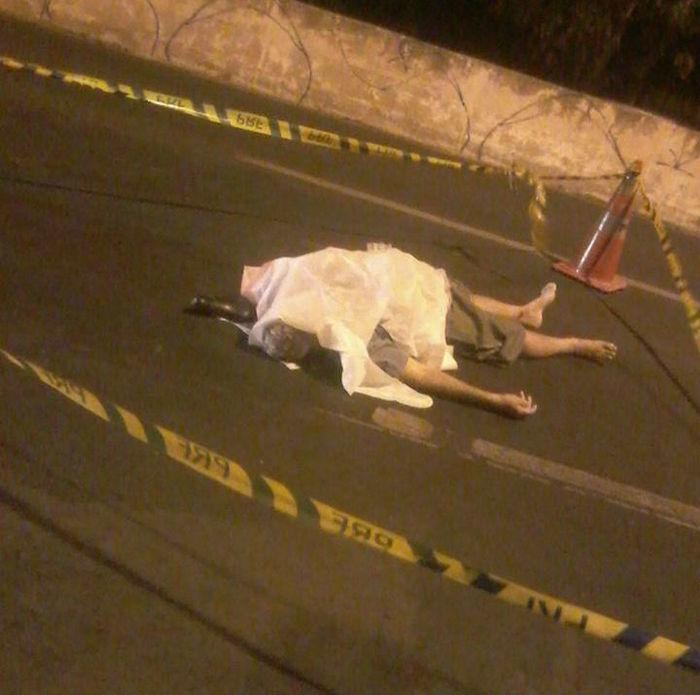 Vítima morreu antes de ser socorrida (Crédito: Reprodução)