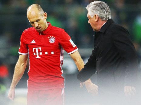 Robben diz que o treinador do seu filho é melhor que Ancelotti