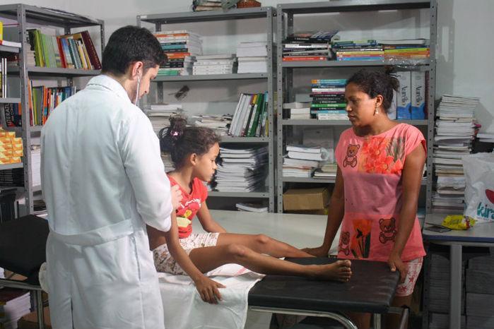 Atendimento médico à moradores da chapadinha sul (Crédito: Reprodução)