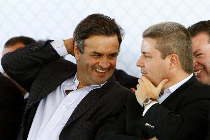 Aécio Neves e Antonio Anastasia (Crédito: Reprodução)