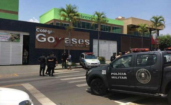Escola onde adolescente atirou e matou dois em Goiânia (Crédito: G1/Globo)