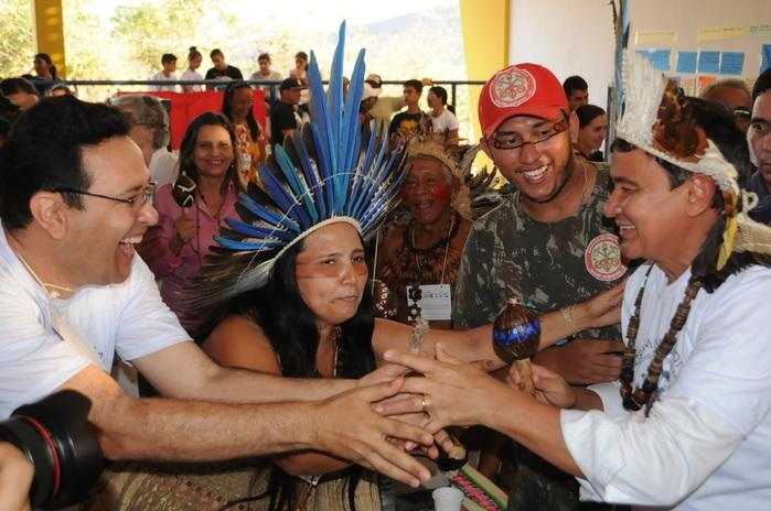 Wellington Dias no Fórum Nacional de Museus Indígenas do Brasil (Crédito: Francisco Gilásio)