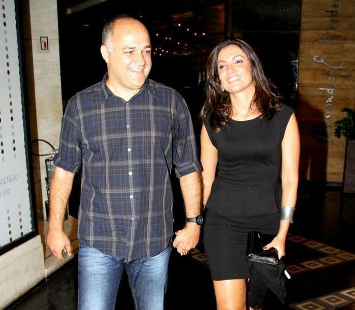 Patrícia Poeta  ao lado do ex-marido (Crédito: Agência News)