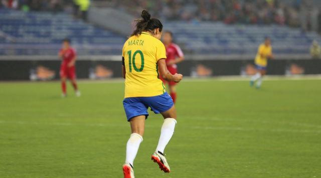 Seleção feminina vence Coreia do Norte com boa atuação de Marta (Crédito: Fernanda Coimbra/CBF)