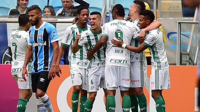 O Palmeiras assumiu a segunda colocação (Crédito: GE)