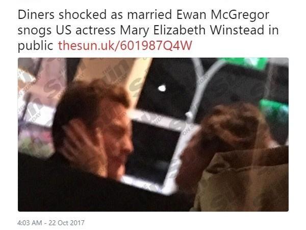 Paparazzi flagra Ewan McGregor traindo a esposa