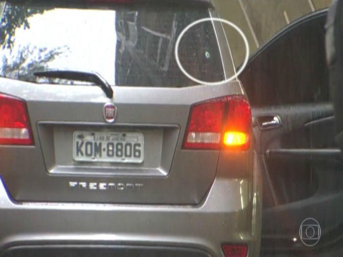 Veículo em que seguia a turista morta na Rocinha (Crédito: TV Globo/G1)