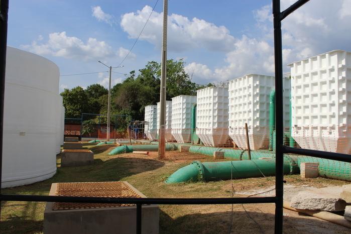 Estação de Tratamento está sendo construída (Crédito: Reprodução/Ascom)
