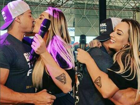 """Em evento, Felipe Franco se declara para Salimeni:""""Sempre vou amar"""""""