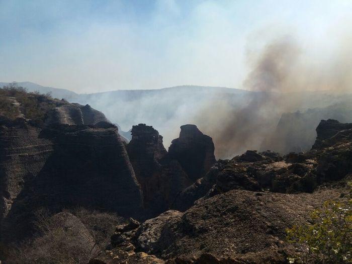 Incêndio na Serra da Capivara (Crédito: Reprodução)
