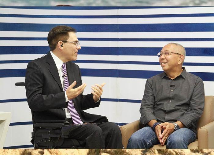 Amadeu Campos entrevista Harry Tadashi Kadomoto (Crédito: Raíssa Morais)