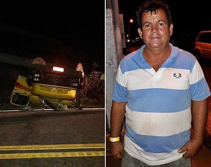Motorista sofreu ferimentos leves.  (Crédito: Kairo Amaral )