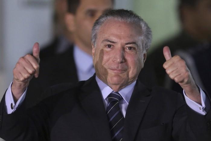 Michel Temer  (Crédito:  Eraldo Peres/AP)