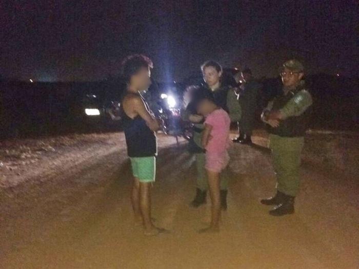 Policiais conseguiram evitar abuso contra menina (Crédito: Polícia Militar)