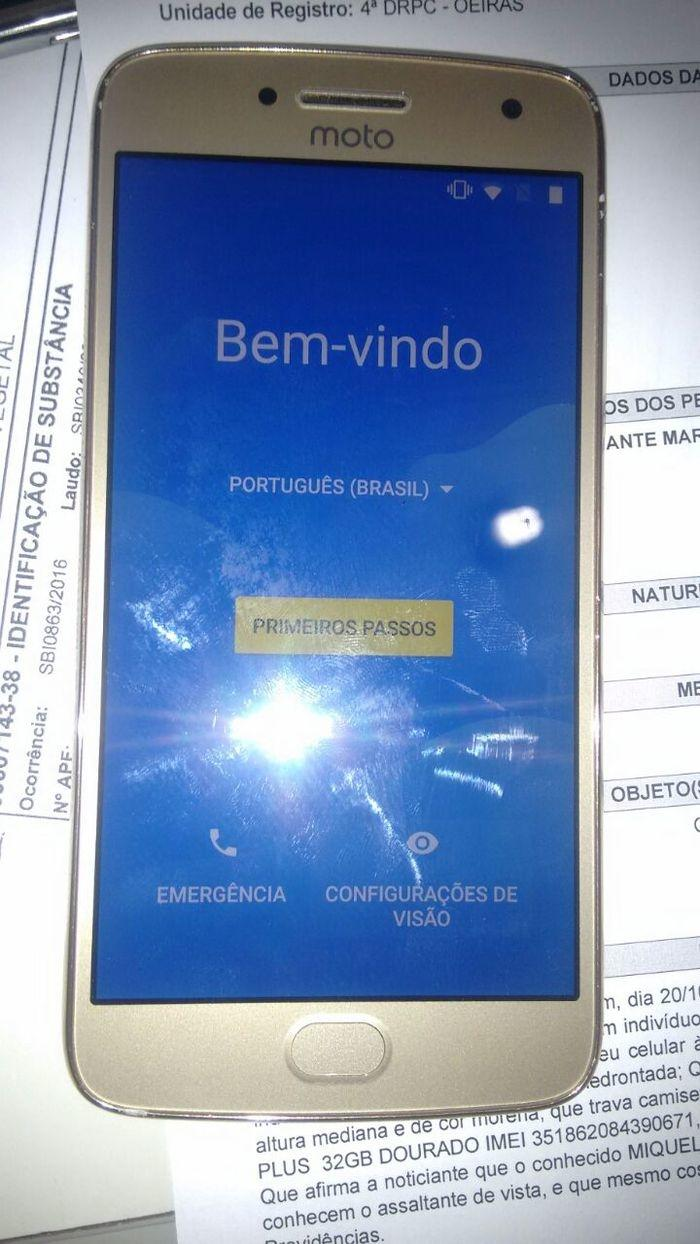 Aparelho celular que foi roubado pela empresária